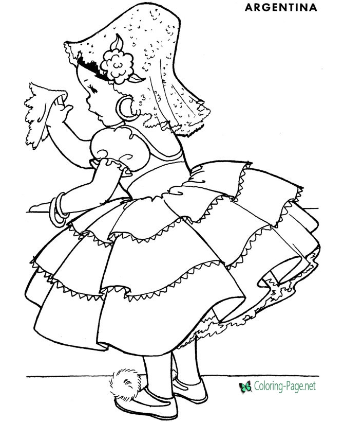 Argentina Coloring Pages For Kids  Princess Coloring Pages Argentina
