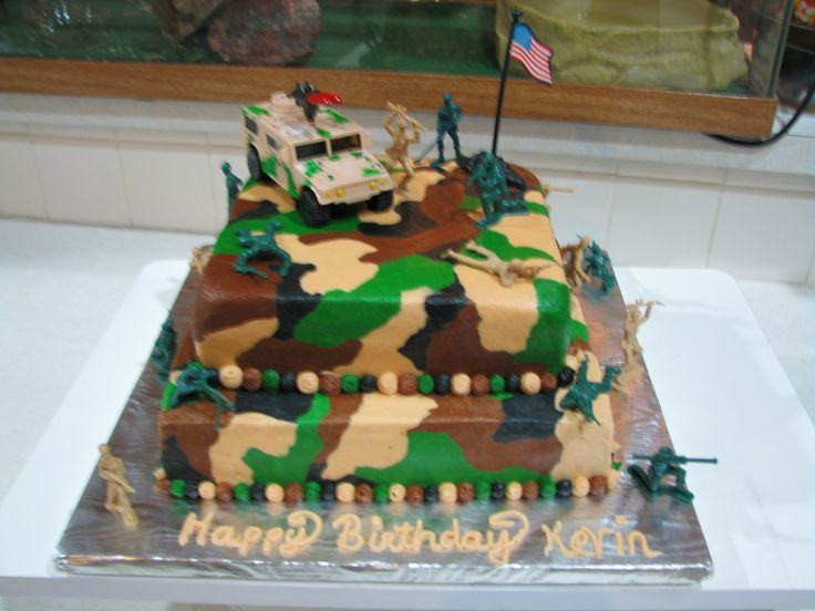 Army Birthday Cake  Army birthday cakes