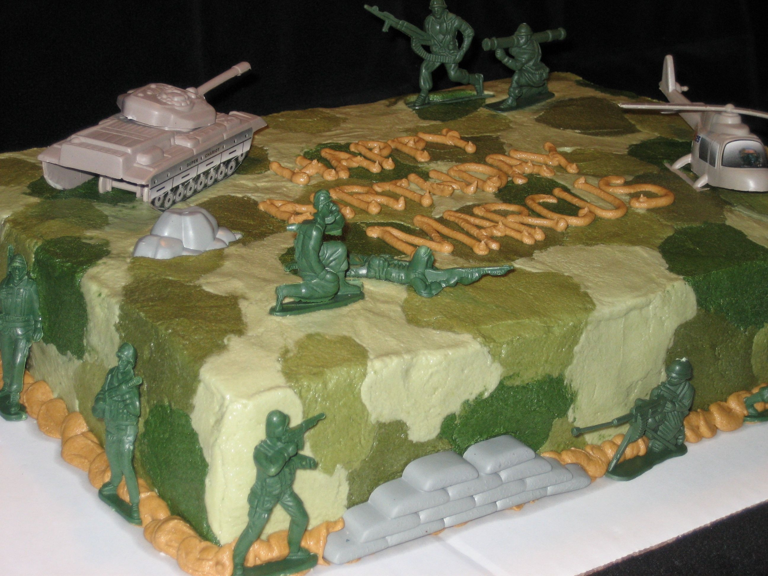 Army Birthday Cake  Army Theme Cake CakeCentral