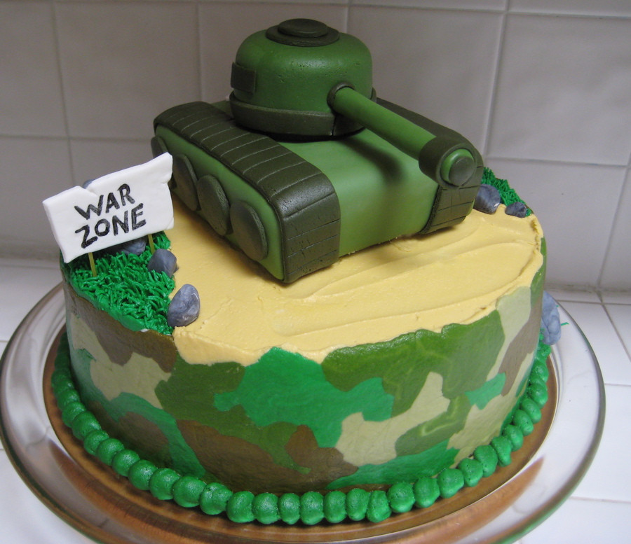 Army Birthday Cake  How to Decorate a Camo Camouflage Cake