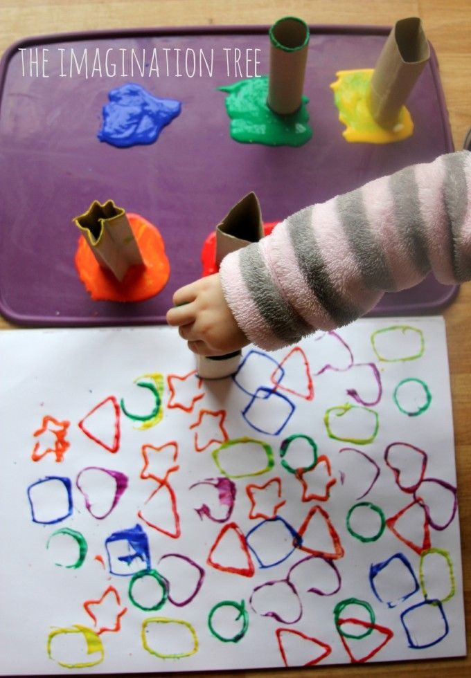 Best ideas about Art And Craft Ideas For Preschoolers . Save or Pin Printing with Cardboard Shape Tubes Now.