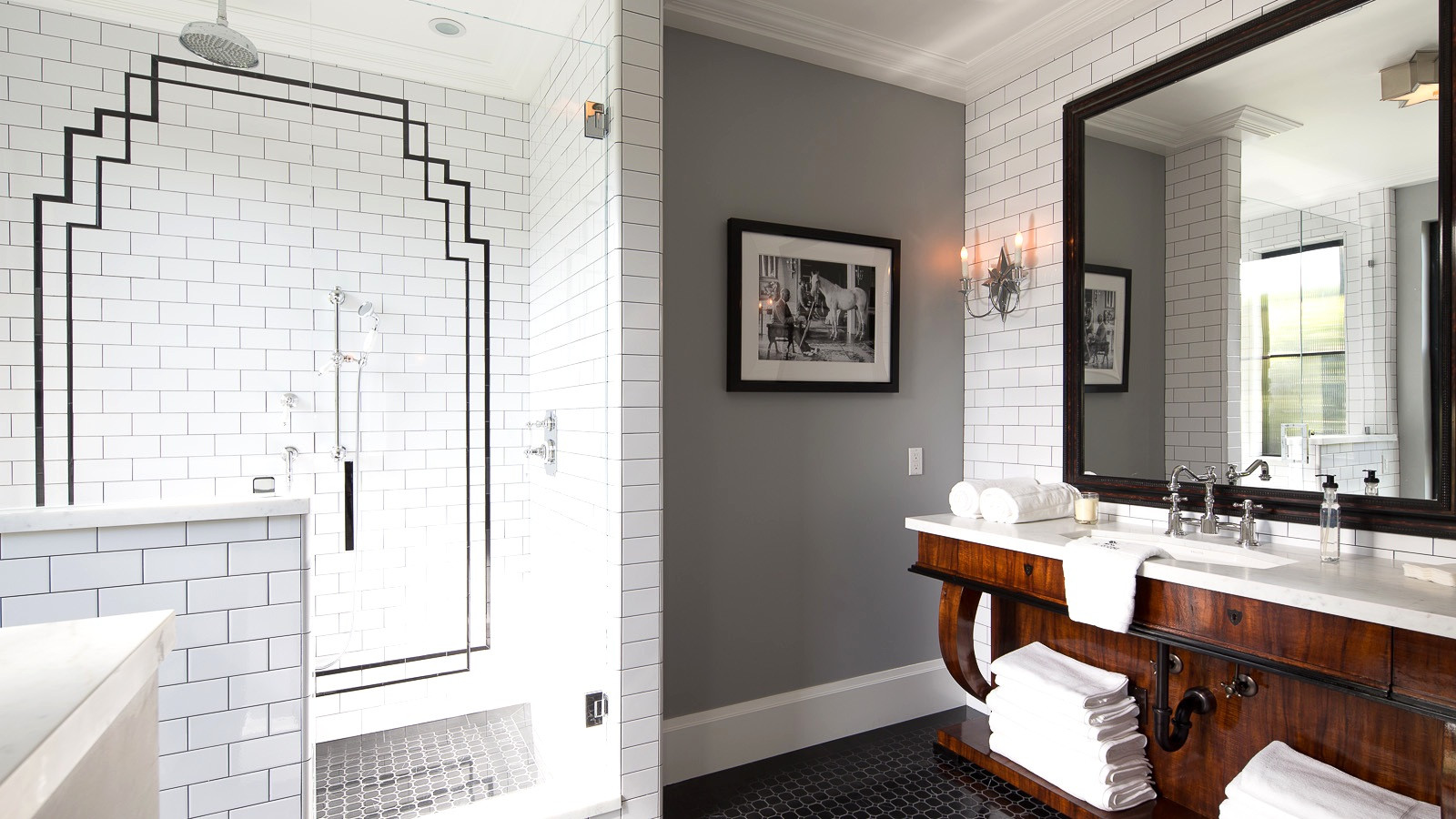 Best ideas about Art Deco Bathroom . Save or Pin 30 great pictures and ideas art nouveau bathroom tiles Now.