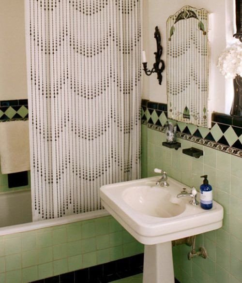 Best ideas about Art Deco Bathroom . Save or Pin 36 art deco green bathroom tiles ideas and pictures Now.