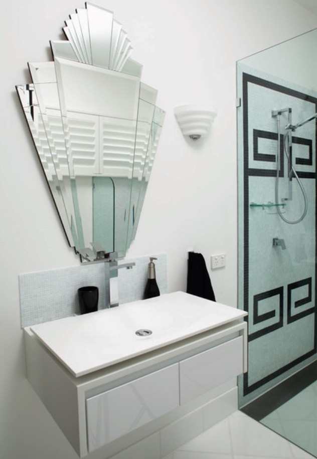 Best ideas about Art Deco Bathroom . Save or Pin How to Create an Art Deco Contemporary Bathroom Love Now.