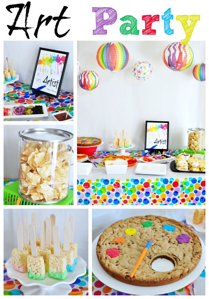 Best ideas about Art Party Ideas For Adults . Save or Pin Colorful Art Party Eclectic Momsense Now.