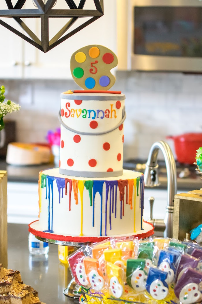 Best ideas about Art Party Ideas For Adults . Save or Pin Kara s Party Ideas Rainbow Paint Party Now.