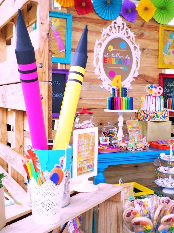 Best ideas about Art Party Ideas For Adults . Save or Pin Kara s Party Ideas Colorful Art Studio Birthday Party Now.