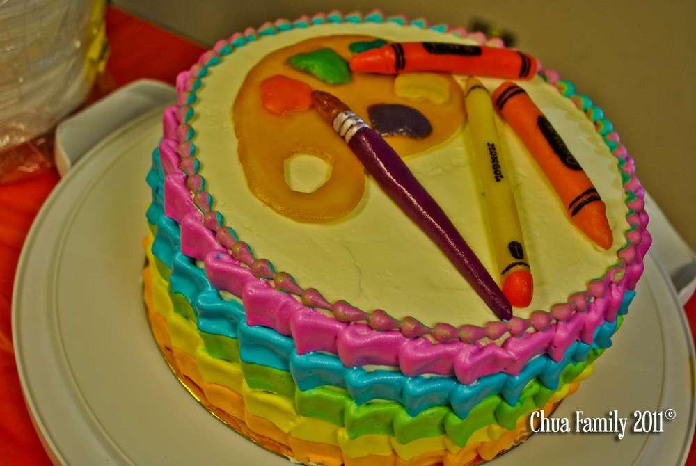 Artsy Birthday Cake  Anything Artsy Birthday Party Ideas