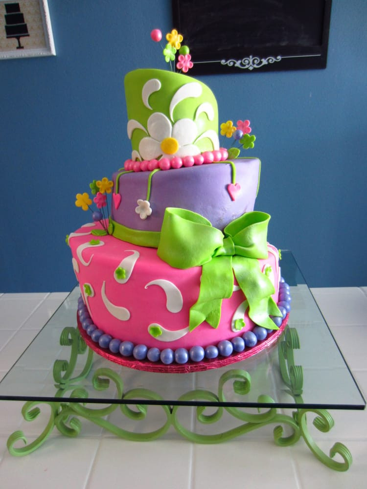 Artsy Birthday Cake  Artsy Cakes FW Bakeries Woodland Springs Dr