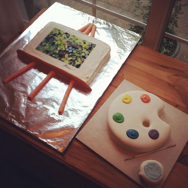 """Artsy Birthday Cake  Beth Stone Studio Amazing """"Artsy"""" Cakes and a Birthday"""