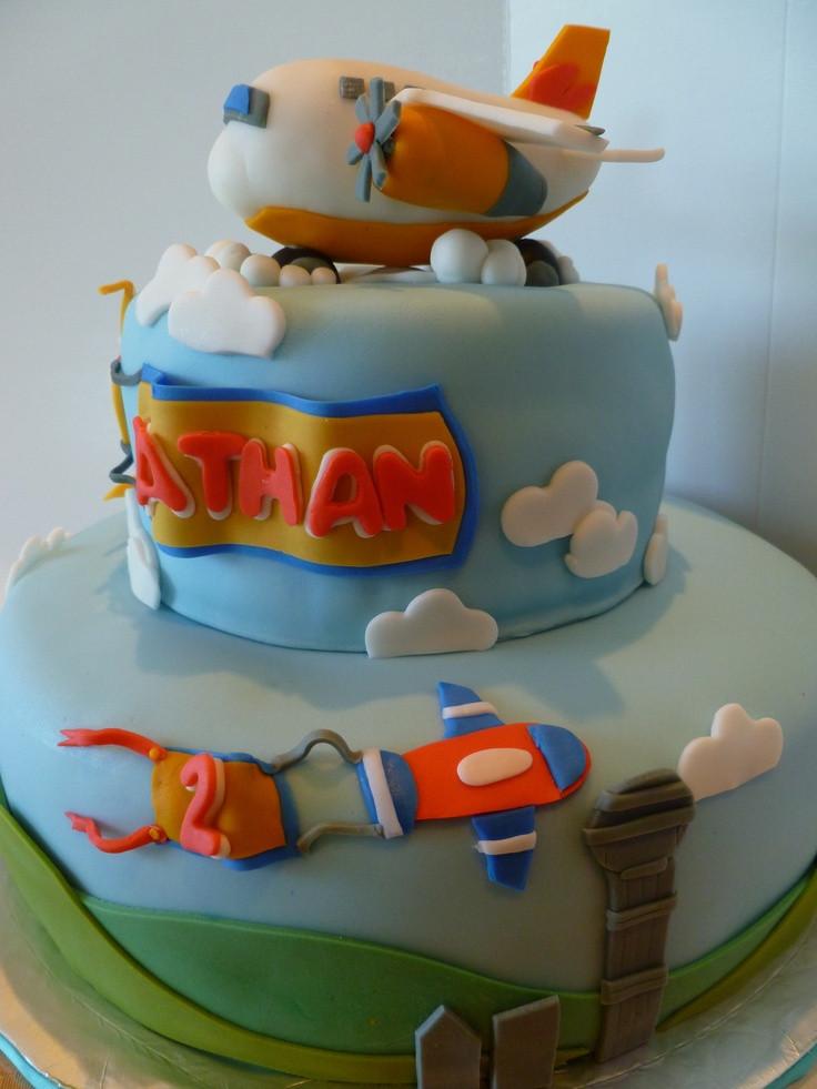Artsy Birthday Cake  Cake Airplane Artsy Flour Pinterest