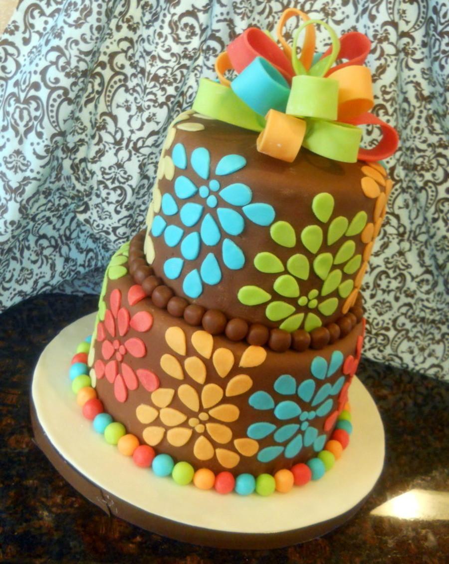 Artsy Birthday Cake  40Th Birthday For Fun Loving Artsy Woman CakeCentral