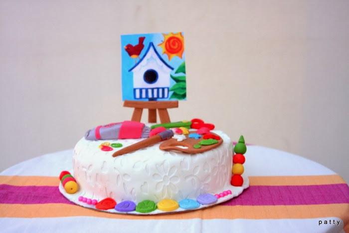 Artsy Birthday Cake  Colours Dekor an artsy cake
