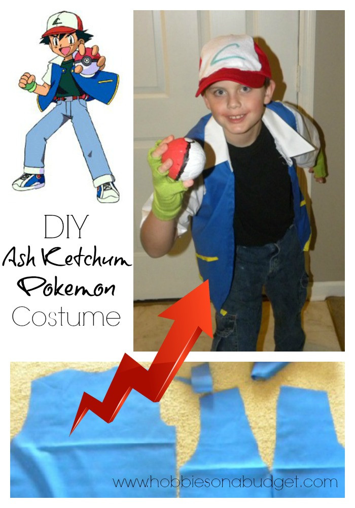 Ash Pokemon Costume DIY  DIY Ash Ketchum Pokemon Costume Hobbies on a Bud