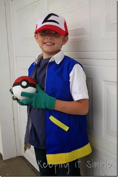 Ash Pokemon Costume DIY  Ash Ash costume and Pokemon on Pinterest