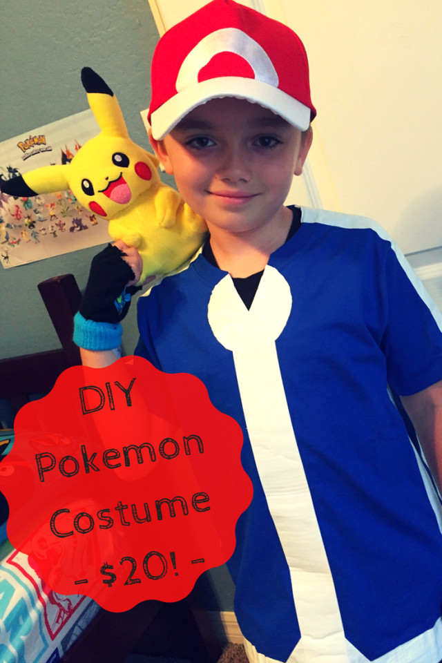 Ash Pokemon Costume DIY  Easy DIY Halloween Costumes for Kids Healthy Happy