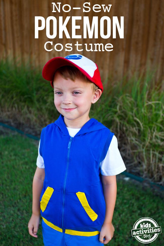 Ash Pokemon Costume DIY  No Sew Pokemon Ash Ketchum Costume