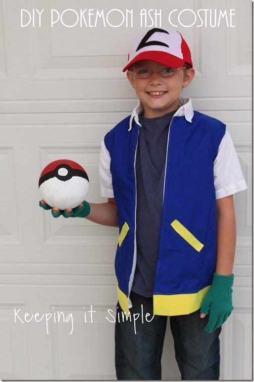 Ash Pokemon Costume DIY  DIY Pokemon Ash Costume Halloween costume