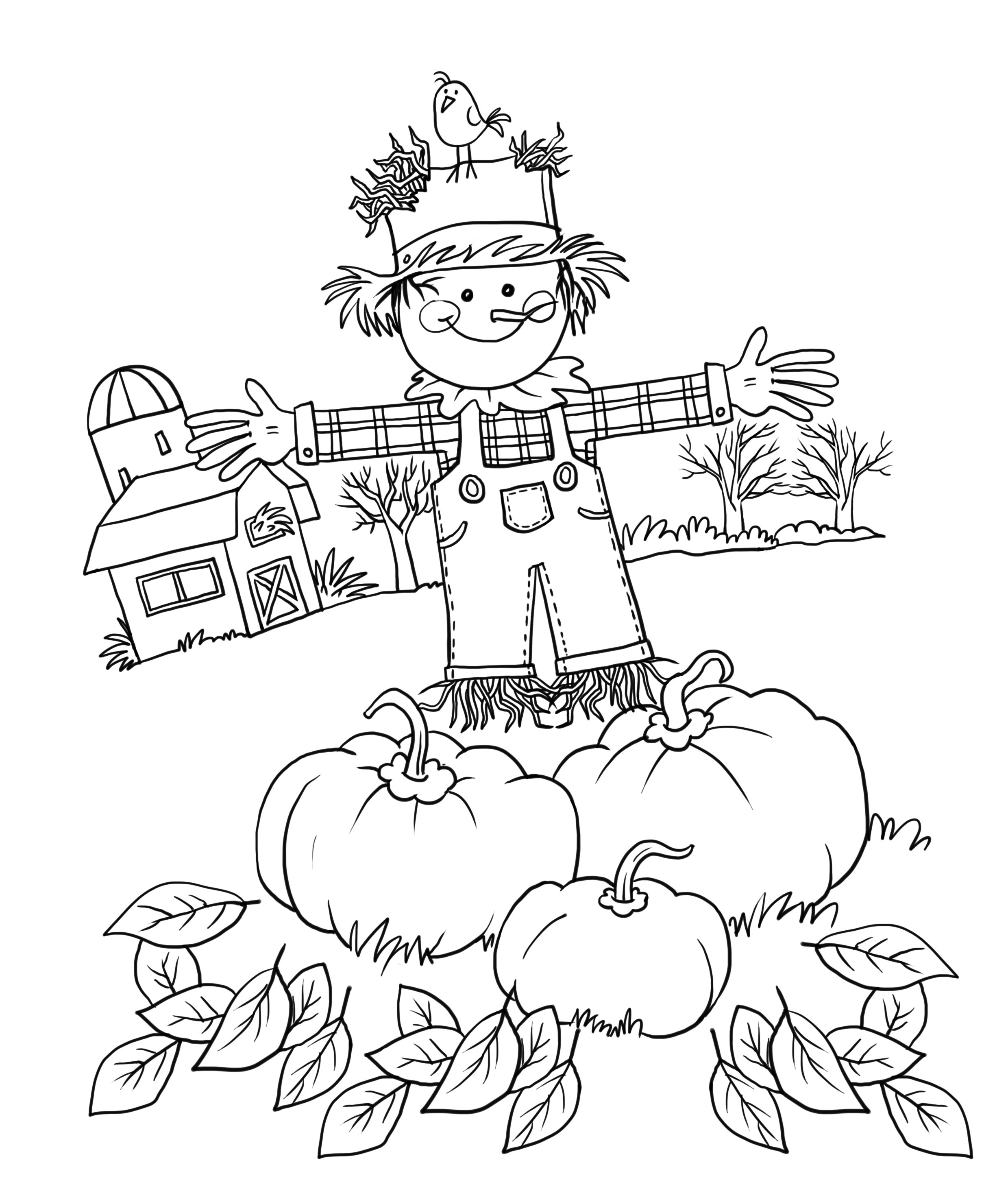 Autumn Coloring Pages For Adults  Fall Coloring Pages