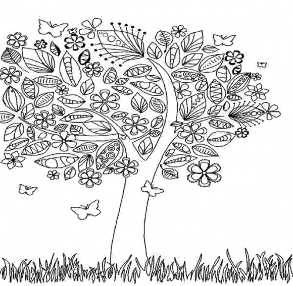Autumn Coloring Pages For Adults  Get This Autumn Coloring Pages for Adults Free Printable