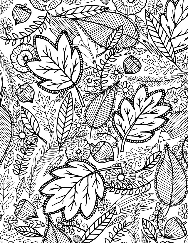 Autumn Coloring Pages For Adults  alisaburke a FALL coloring page for you