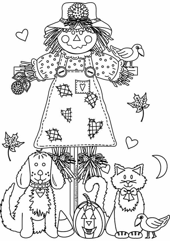 Autumn Coloring Pages For Adults  Free Printable Fall Coloring Pages for Kids Best
