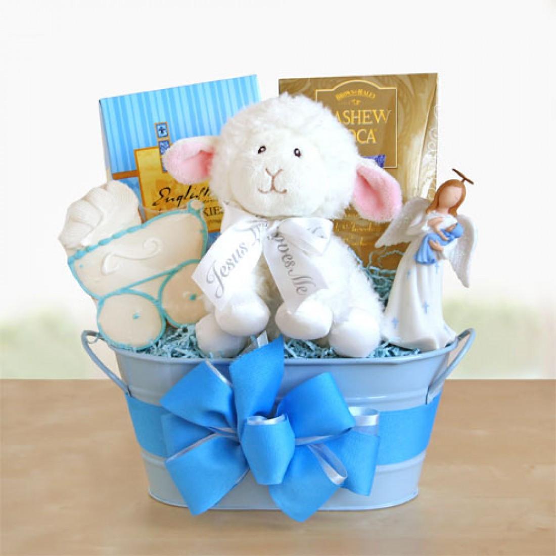 Baby Boy Baptism Gift Ideas  Blue Boy Christening Gift Baskets