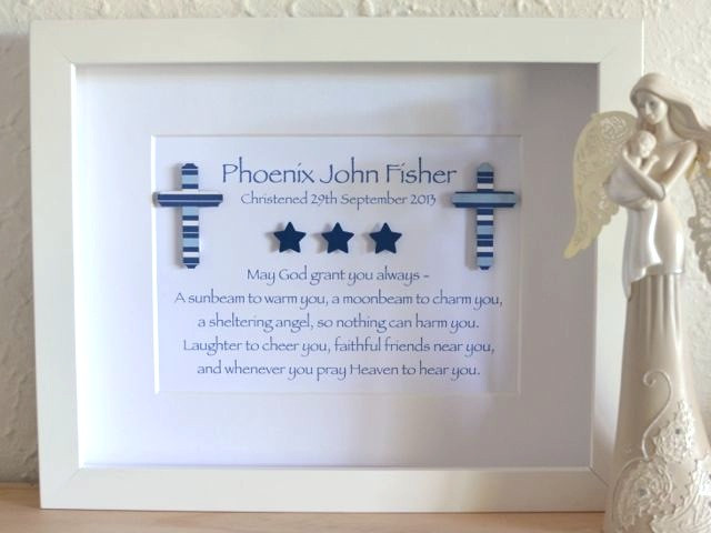 Baby Boy Baptism Gift Ideas  Naming Day Christening Cross Baby Baptism Personalised