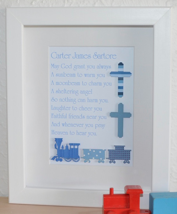 Baby Boy Baptism Gift Ideas  Classic Baby Boys Unique Christening Baptism Poem Gifts