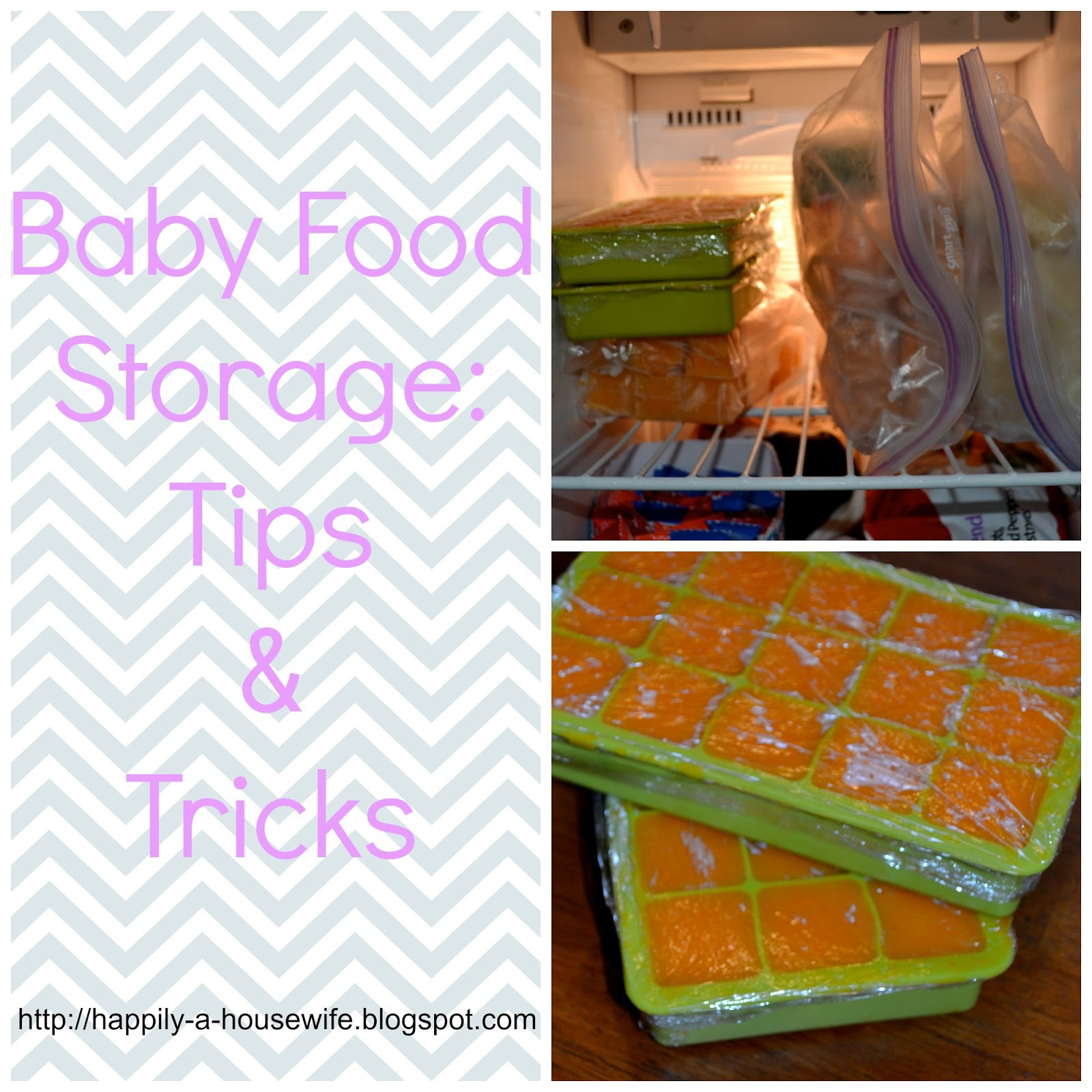 Best ideas about Baby Food Storage . Save or Pin Happily A Housewife Baby Food Storage Tips and Tricks Now.