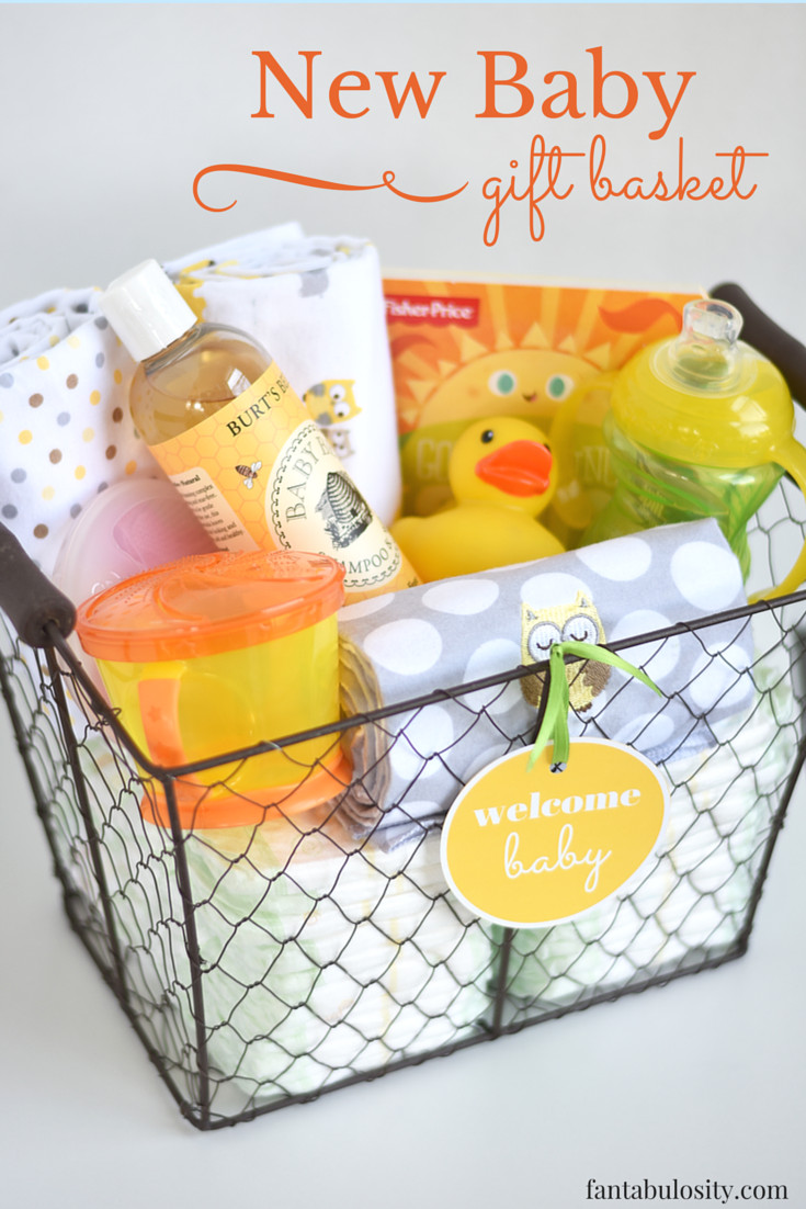 Baby Gift Basket Ideas  DIY New Baby Gift Basket Idea and Free Printable