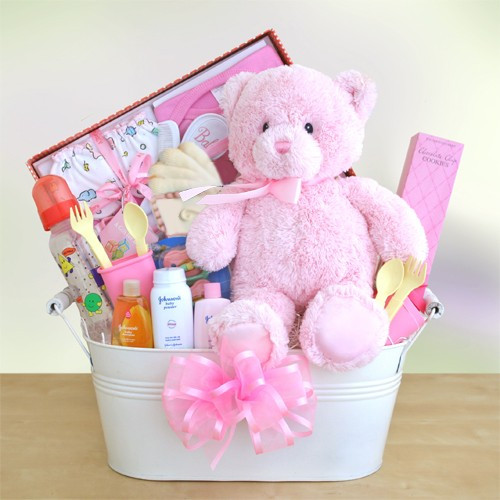 Best ideas about Baby Gift Ideas For Girl . Save or Pin new baby girl t baskets Now.