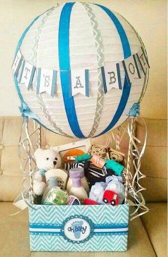 Baby Gift Ideas Pinterest  Hot air balloon baby shower t basket