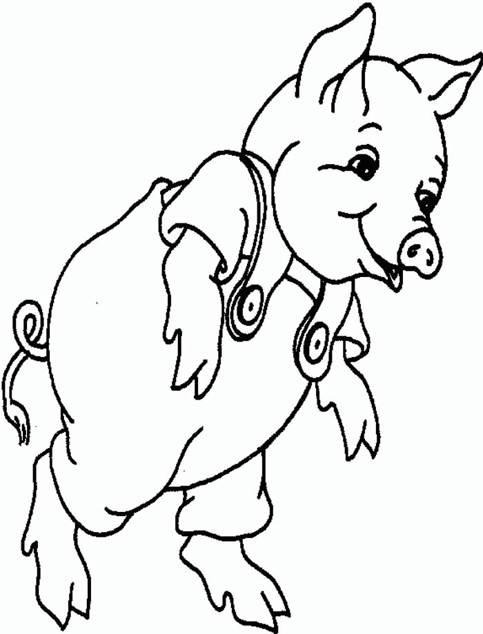 Baby Pig Coloring Pages  Pig Template Animal Templates