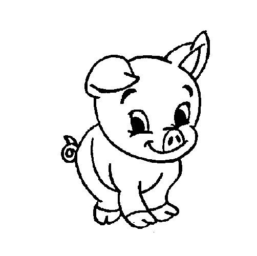 Baby Pig Coloring Pages  Cute Baby Pig Coloring Pages Pig cartoon coloring pages