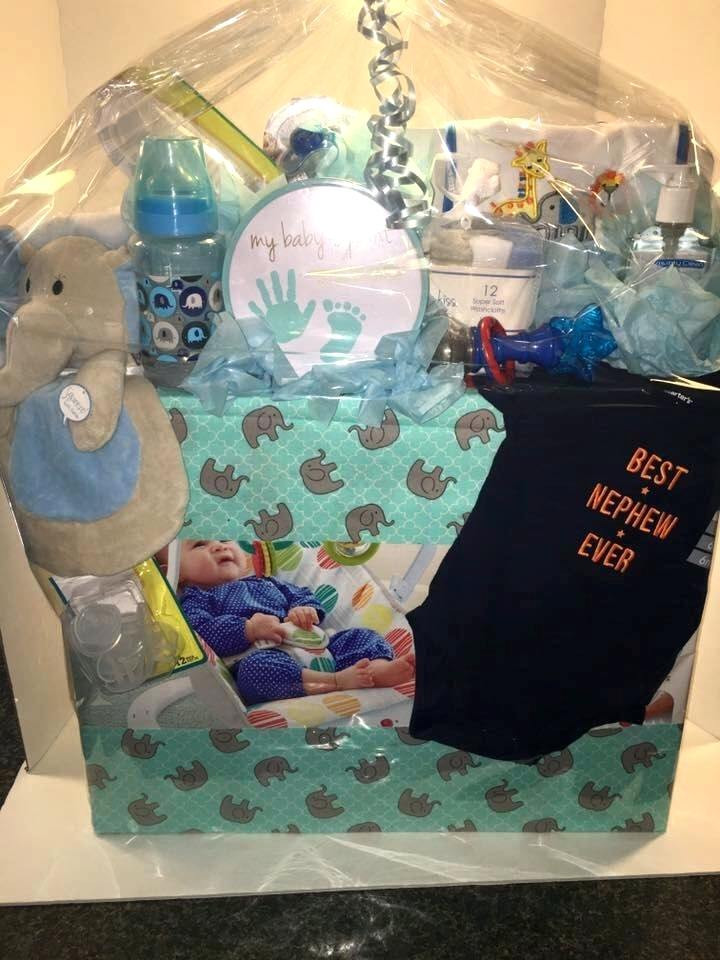 Baby Shower Gift Basket Ideas For Guests  Baby Shower Gift Basket Ideas Elephant Theme Baby Shower