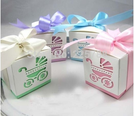 Best ideas about Baby Shower Gift Box Ideas . Save or Pin 1000pcs lot Baby Shower Ribbon Favour Gift Candy Boxes Now.