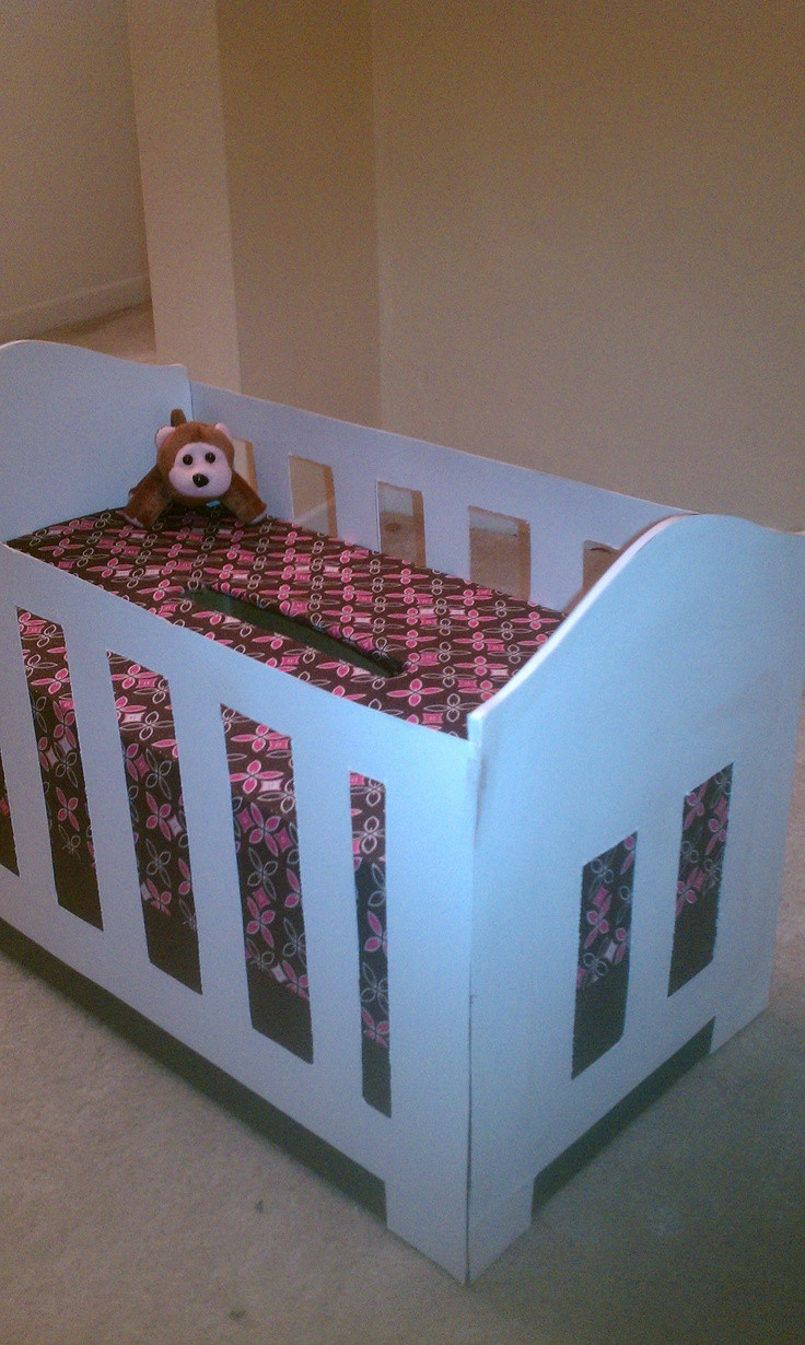 Best ideas about Baby Shower Gift Box Ideas . Save or Pin Crib t card box for babyshower Now.