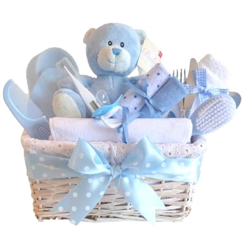Baby Shower Gift Ideas For A Boy  Angel DELUXE Baby Boy Gift Basket Baby Boy Gift Hampers