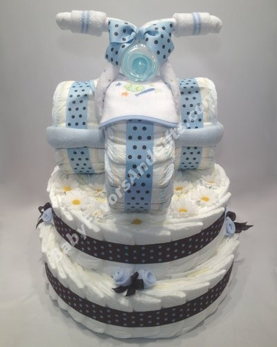 Baby Shower Gift Ideas For A Boy  Tricycle diaper cake unique baby shower t ideas for