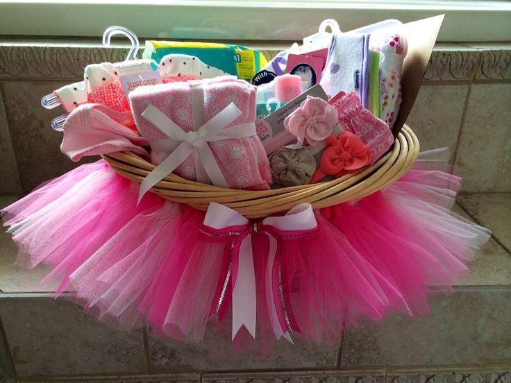 Baby Shower Gift Ideas For A Girl  Baby shower tutu t basket DIY
