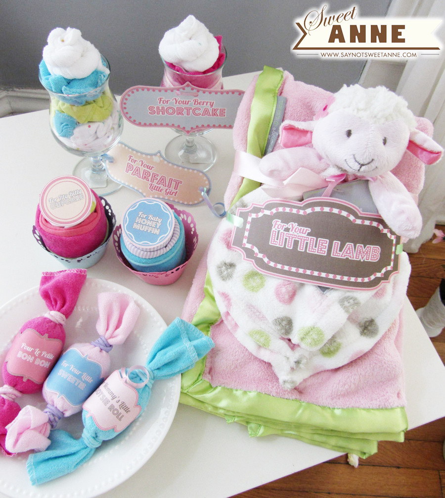 Baby Shower Gift Ideas For A Girl  Baby Shower Gifts [Free Printable] Sweet Anne Designs