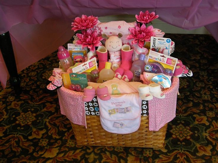 Baby Shower Gift Ideas For A Girl  Baby shower t basket for a girl