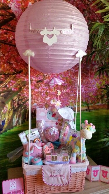 Baby Shower Gift Ideas For A Girl  Baby Shower hot air balloon t basket DIY
