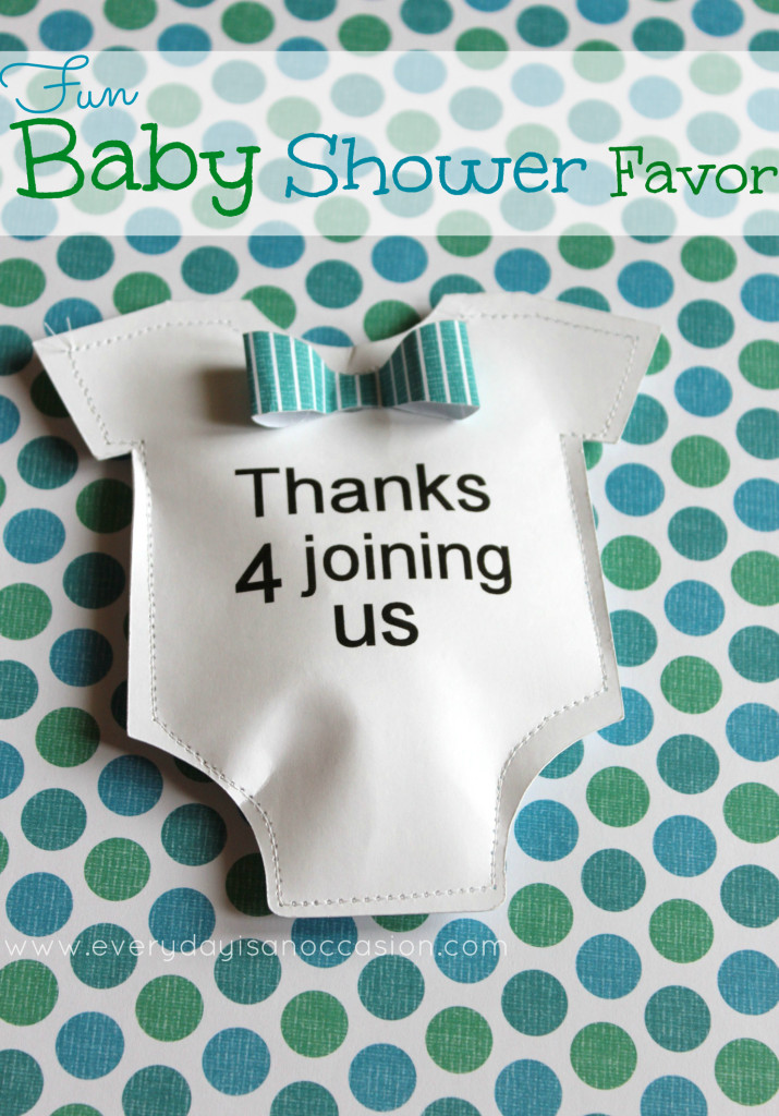 Baby Shower Party Favors DIY  DIY Baby Shower Favor