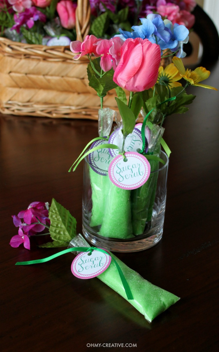 Baby Shower Party Favors DIY  Homemade Sugar Scrub Shower Favors Oh My Creative