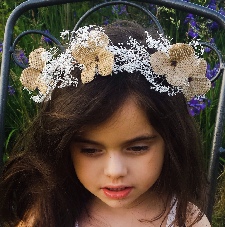 Best ideas about Baby'S Breath Flower Crown . Save or Pin Girl s White Baby s Breath Flower Crown Headband Now.