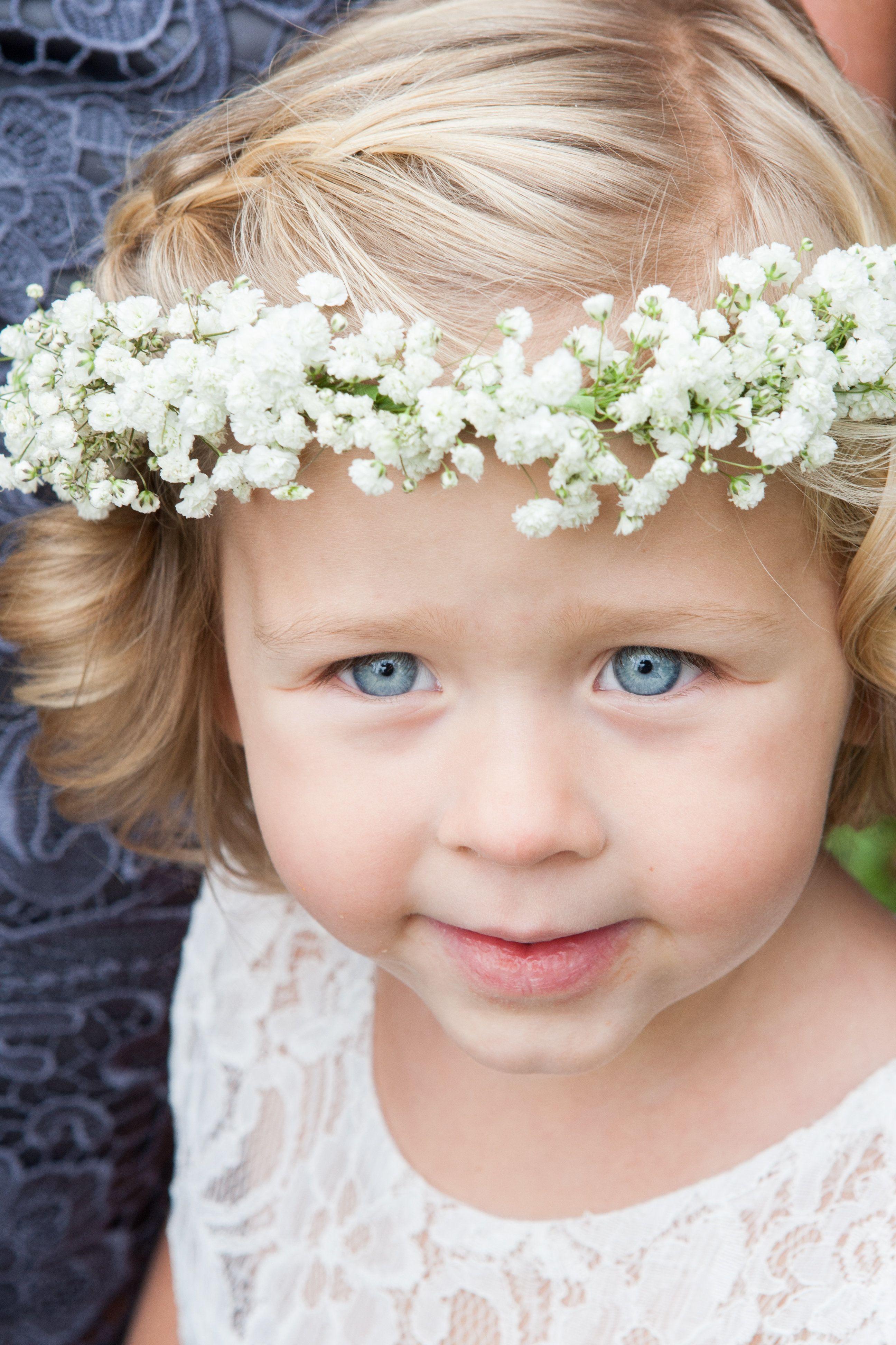 Best ideas about Baby'S Breath Flower Crown . Save or Pin Baby s Breath Flower Girl Crown Now.
