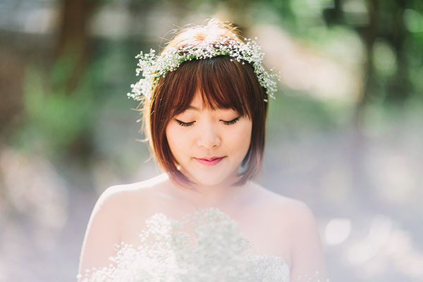 Best ideas about Baby'S Breath Flower Crown . Save or Pin Sewon & Taurin s Watsonville CA Real Wedding by Let s Now.