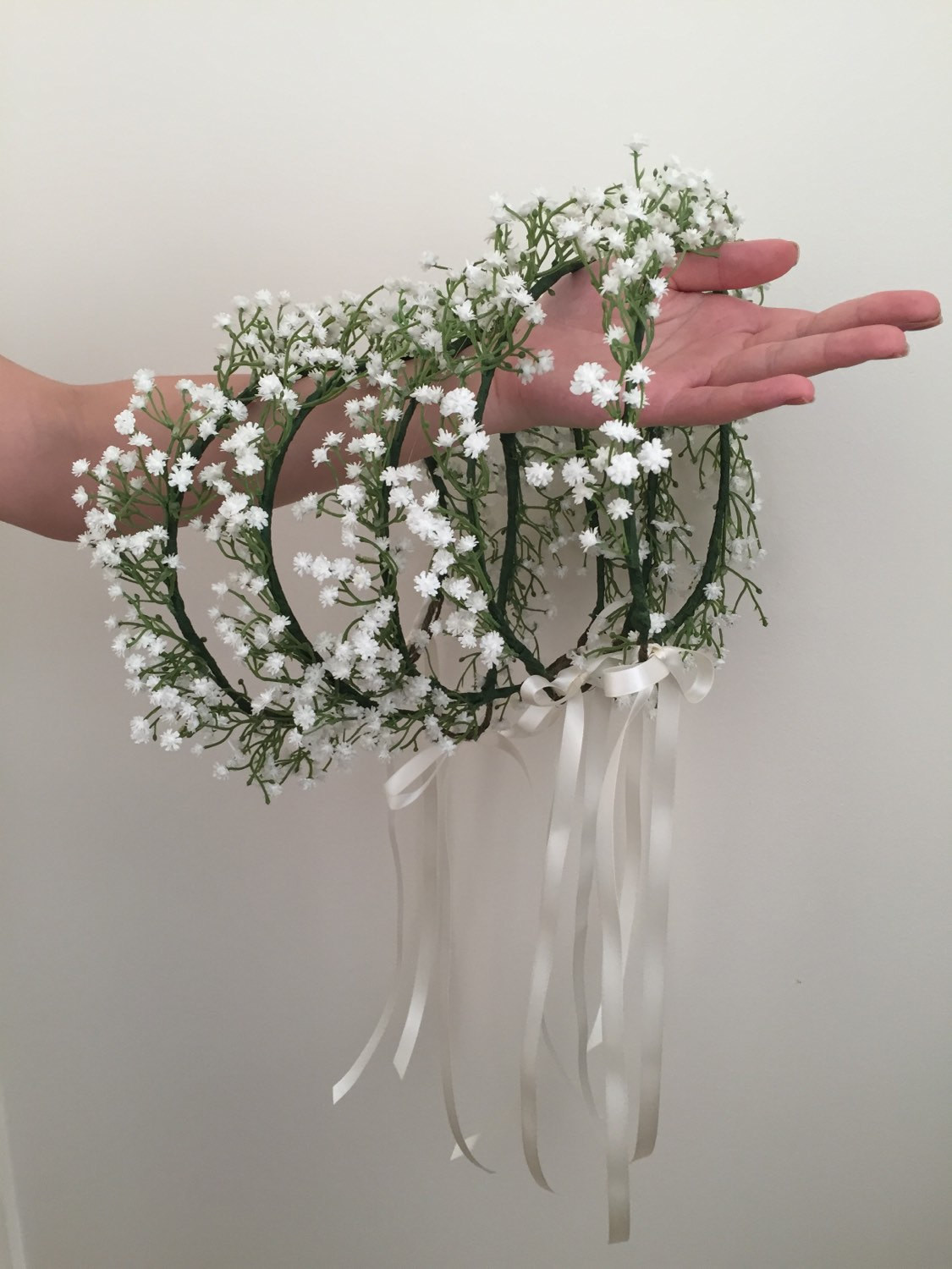 Best ideas about Baby'S Breath Flower Crown . Save or Pin Baby s breath crown baby s breath flower girl crown Now.